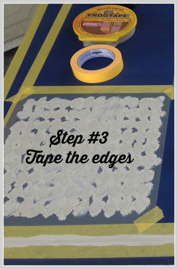 dining room table makeover using frog tape