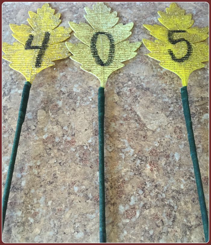 dowel rods with floral tape