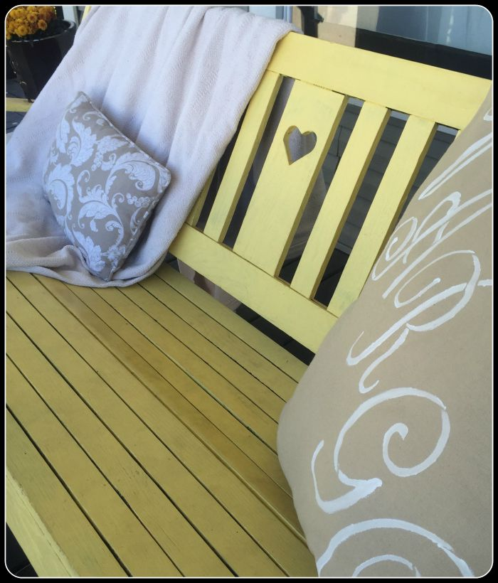front porch swing close up