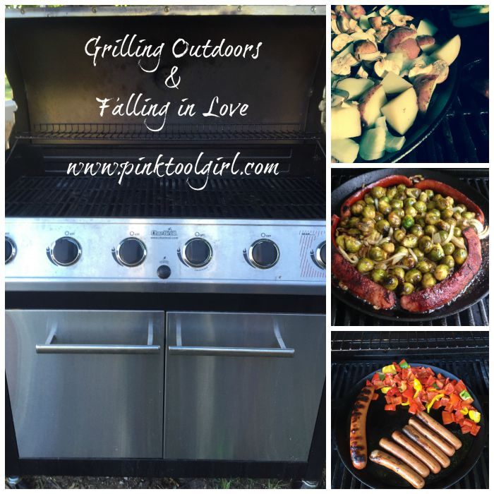 grilling outdoors