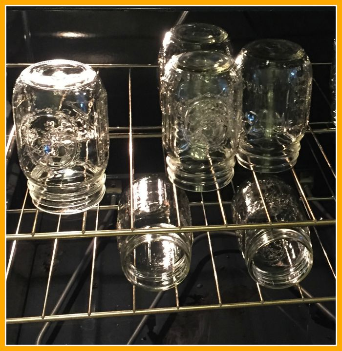 jars in the oven