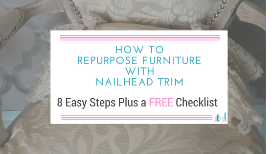 How to reupholster a chair using nailhead trim
