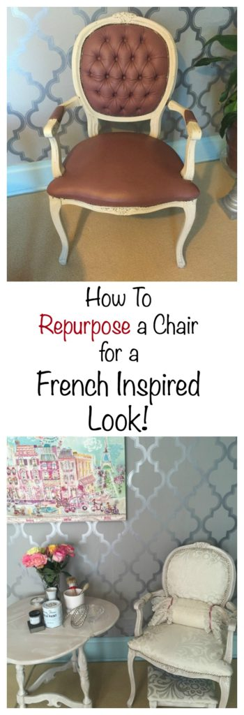 How to repurpose a chair for pinterest
