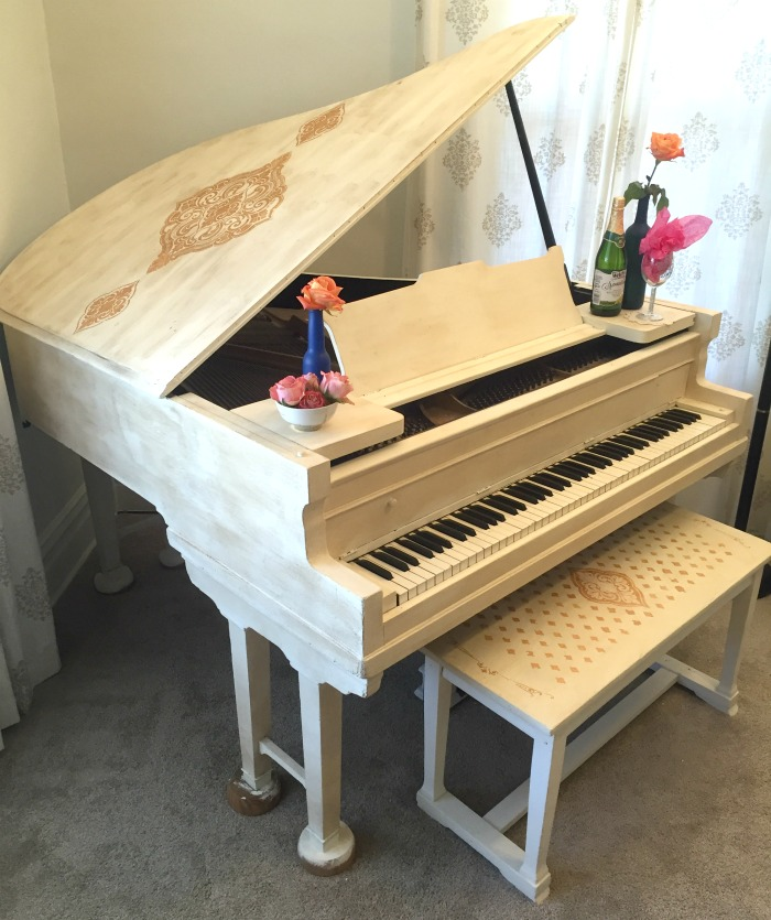 painted piano with chalk paint