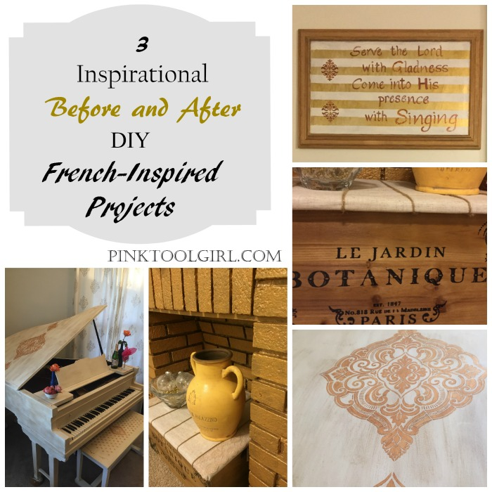 Before and AFter Diy French-Inspired Projects