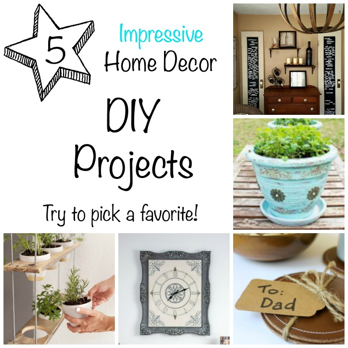 Impressive Home Decor DIY Projects