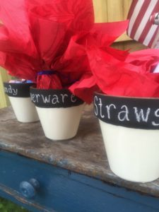 4th of july DIY projects straw holder