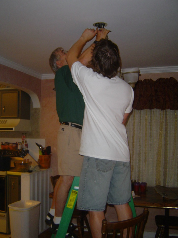 father's day gift ideas hanging the chandelier