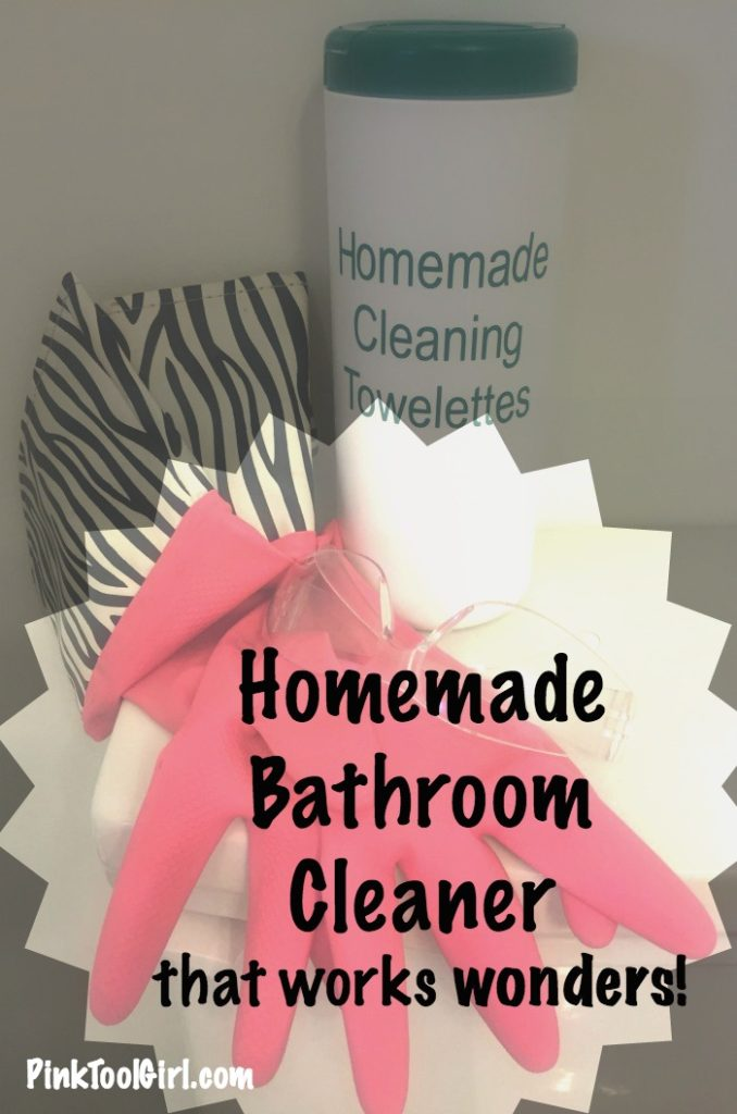 homemade bathroom cleaner towelettes 2
