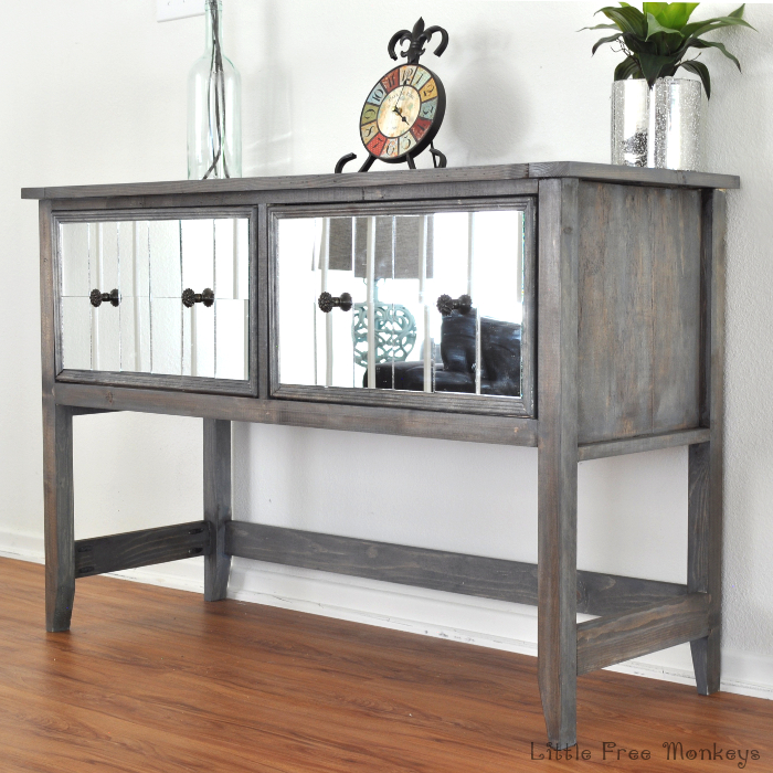 Mirrored-console-table