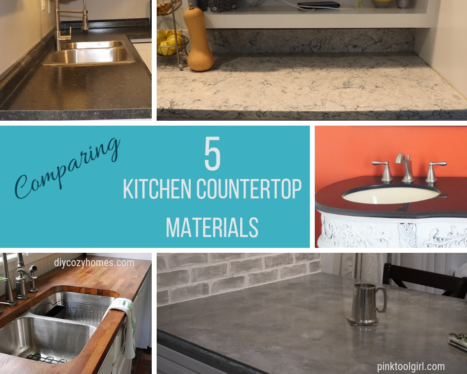 5 Types of Kitchen Countertops - Pink Tool Girl