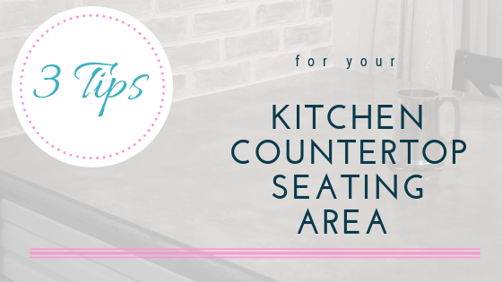 countertop seating area