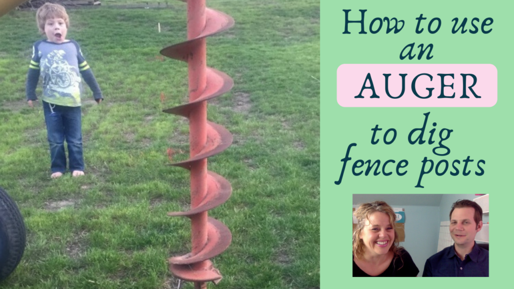 how to use an auger to dig fence posts