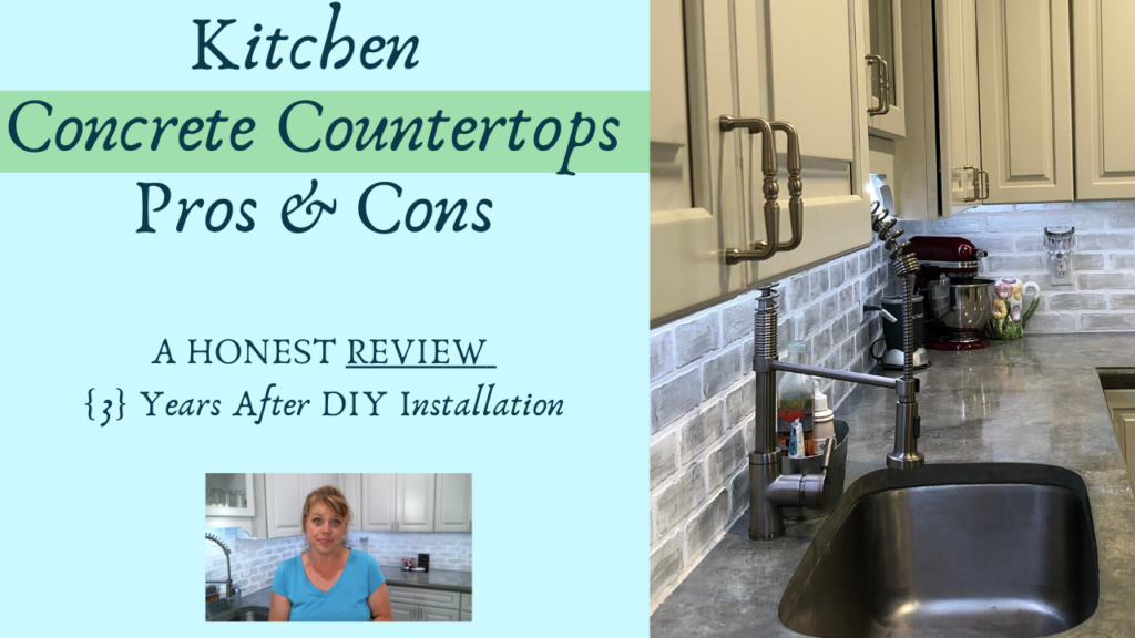 kitchen concrete countertops pros and cons