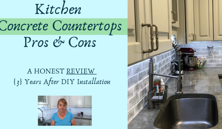 Kitchen Concrete Countertops Pros & Cons