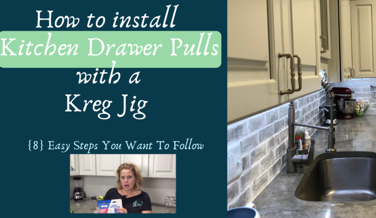How to install Kitchen Drawer Pulls with the Kreg Jig