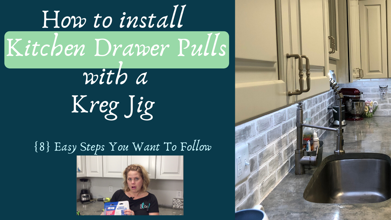 How to install kitchen drawer pulls with a Kreg Jig