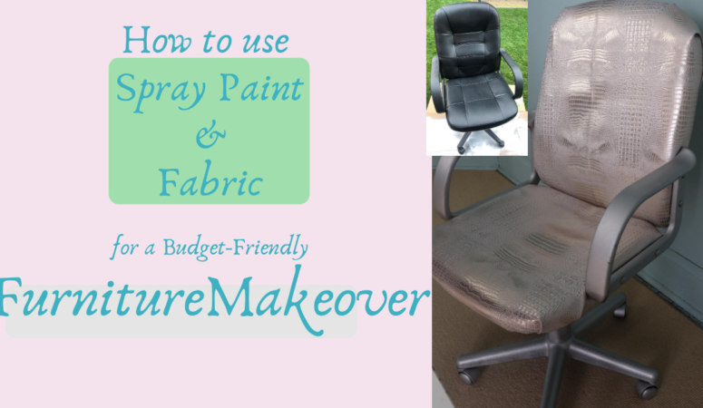 How to Use Spray Paint & Fabric for a Furniture Makeover