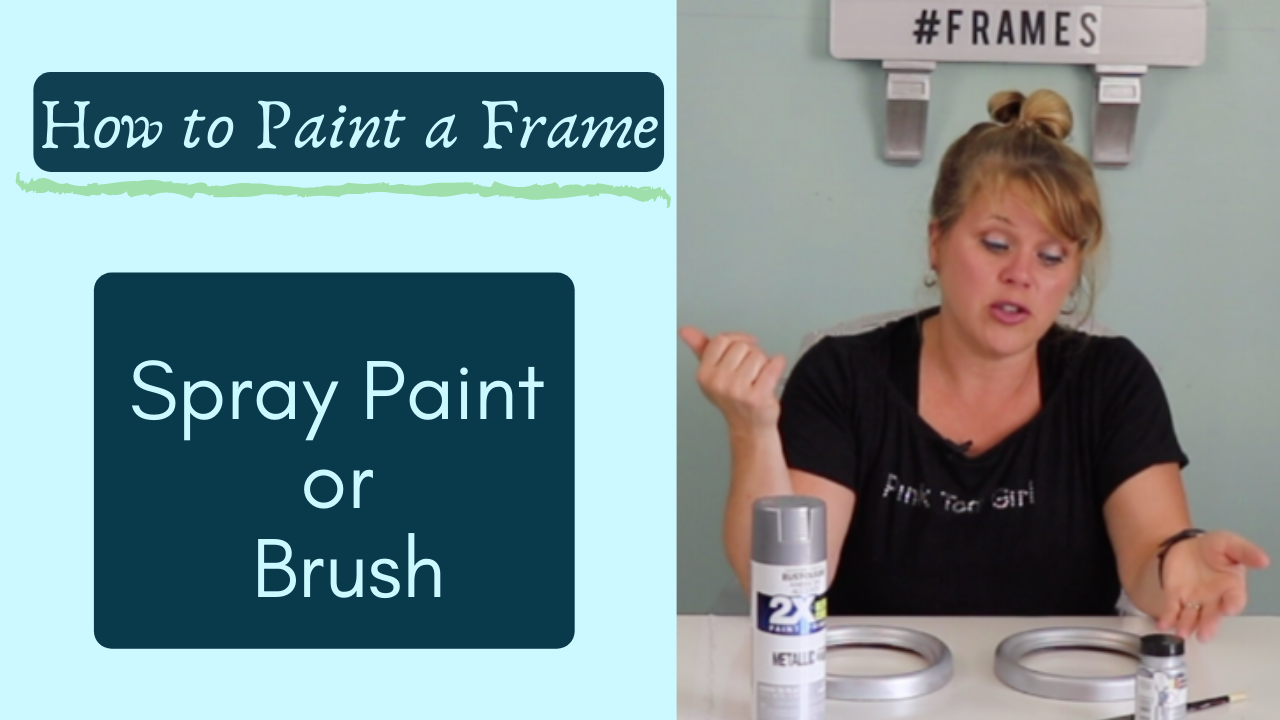 how to paint a frame