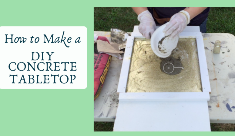 DIY Concrete Tabletop that is Simple, Durable, and Attractive