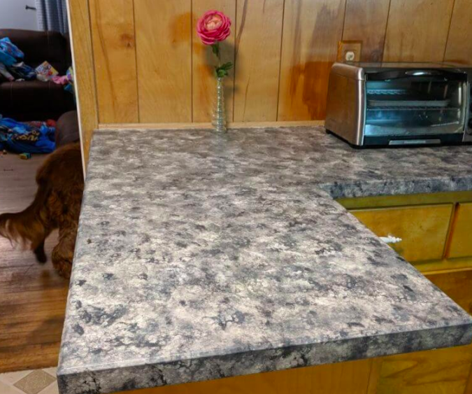 paint countertops like granite finished project